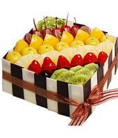 8寸方形水果蛋糕...