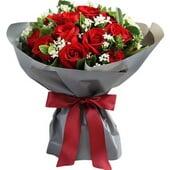 红玫瑰19枝...