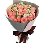 21朵戴安娜粉玫瑰...